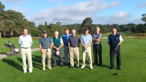 Some of the 2013 touring party at Ferndown GC.